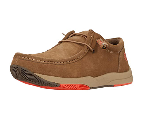 Roper Mens Clearcut Low Suede Leather Chukka Casual Shoes