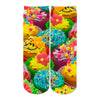 Sublime Designs Adult Fun Printed Crew Socks-Savory Sweets Decorated Cupcakes