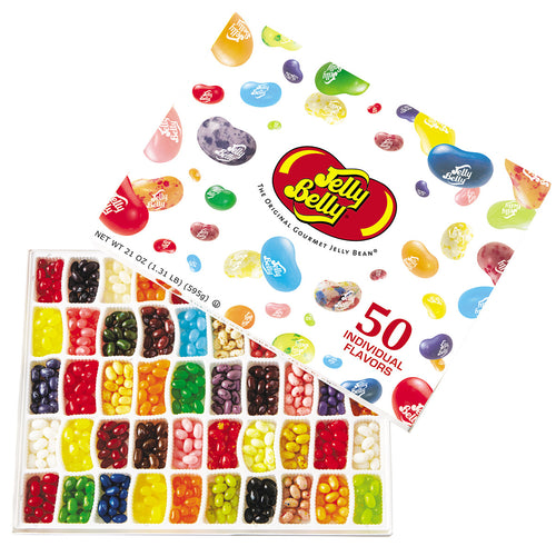 Jelly Belly 50-Flavor Jelly Beans Gift Box 21-Ounce