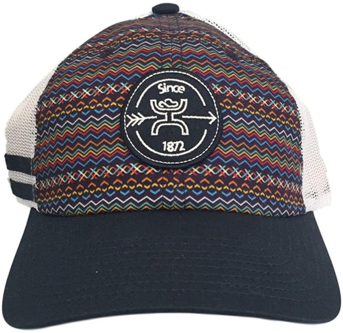 Hooey Womens Tremor Sublimation Print Patch Trucker Cap (Navy / White, One Size)