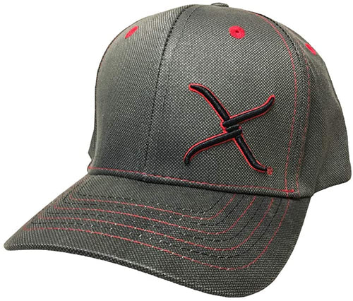 Twisted X Mens Adjustable Snapback Fabric Cap Hat (Brown/Red)
