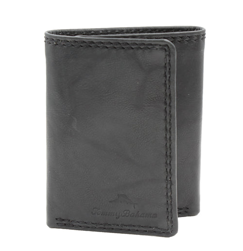 Tommy Bahama Mens Leather Tri-Fold Wallets