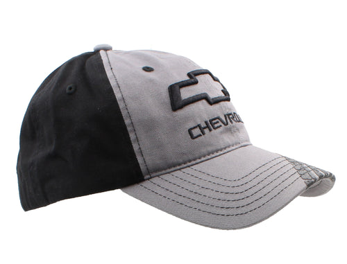 Chevrolet Bowtie Logo Tire Tread Bill Unstructured Adjustable Ball Cap (Black)