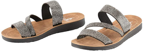Corkys Womens Kaplan EVA Jeweled Slide Sandals