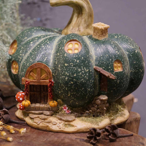 Top Collection Miniature Fairy Garden Large Green Gourd Fairy House