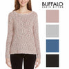 Buffalo David Bitton Womens Textured Mixed Yarn Sweater