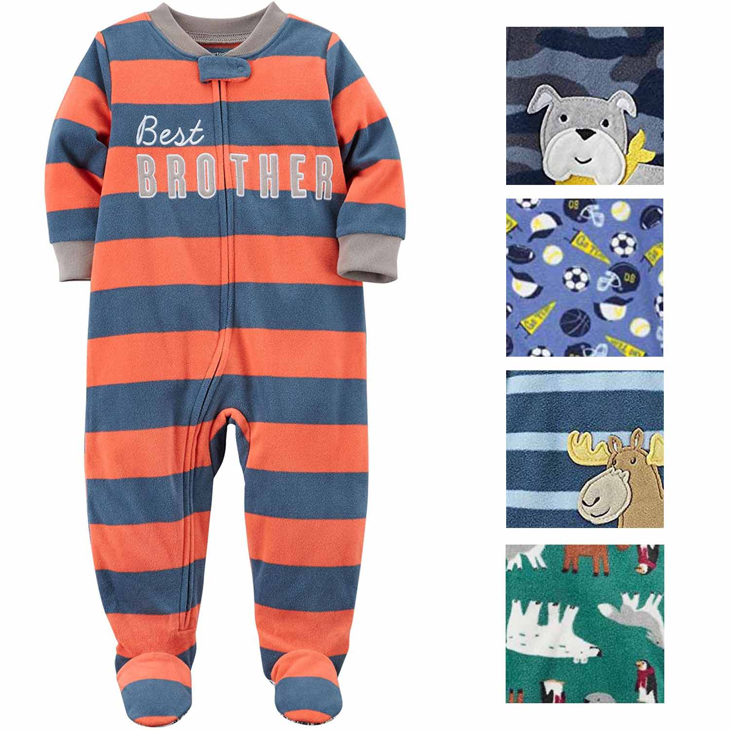 f227729dd3fa4 Carters Baby Boys Printed 1 Piece Fleece Footy Pajama – Shop Munki