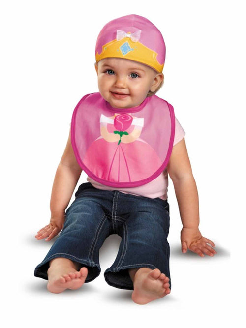 Disguise Baby Girl's Disney Sleeping Beauty Aurora Infant Bib and Hat Costume