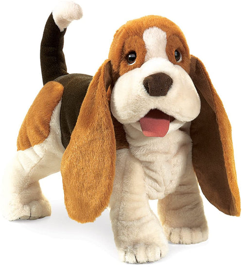 Folkmanis High Quality Domestic Animal Puppets, Basset Hound