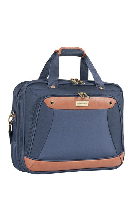 "Tommy Bahama Barnes Bay Collection 17"" Briefcase, Navy"