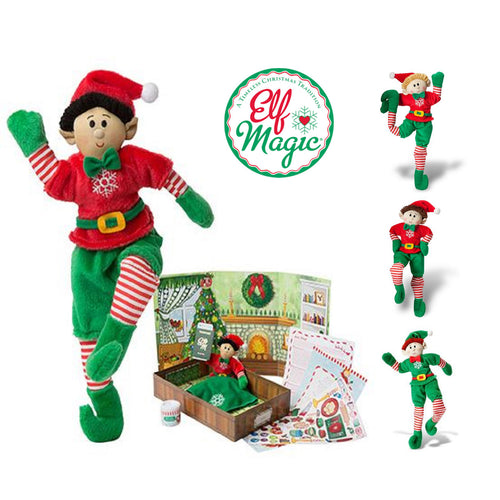 "Elf Magic Boy's 10"" Magic Elf Playset with Elf, Stickers, Play Scene and more!"