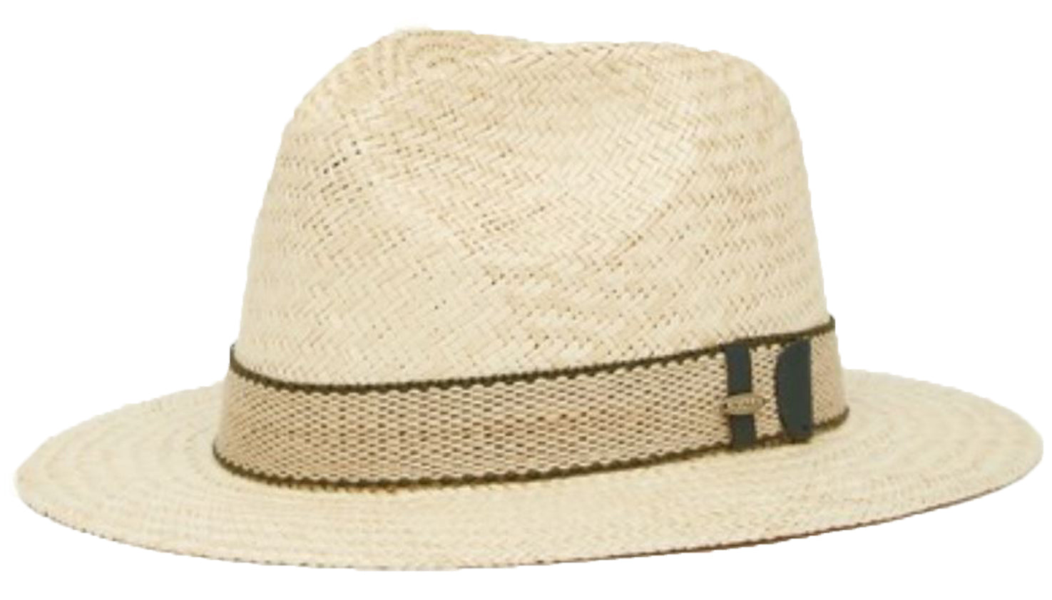 9062519f3 Scala Palm Fiber Safari Fedora Hat (Natural, Large)