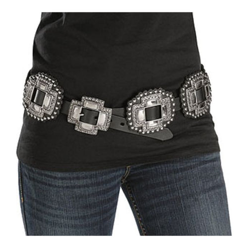 Roper Women's Large Cross Concho Western Style Leather Belt