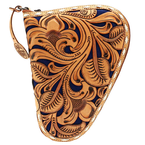 Nocona Western Floral Embossed Leather Pouch Gun Case