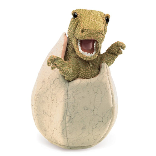 Folkmanis High Quality Mystical Creature Animal Puppets, Dinosaur Egg
