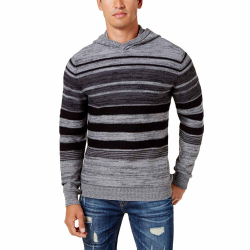 American Rag Men's Blanket Stripe Hoodie (Charcoal Heather, 3X-Large)
