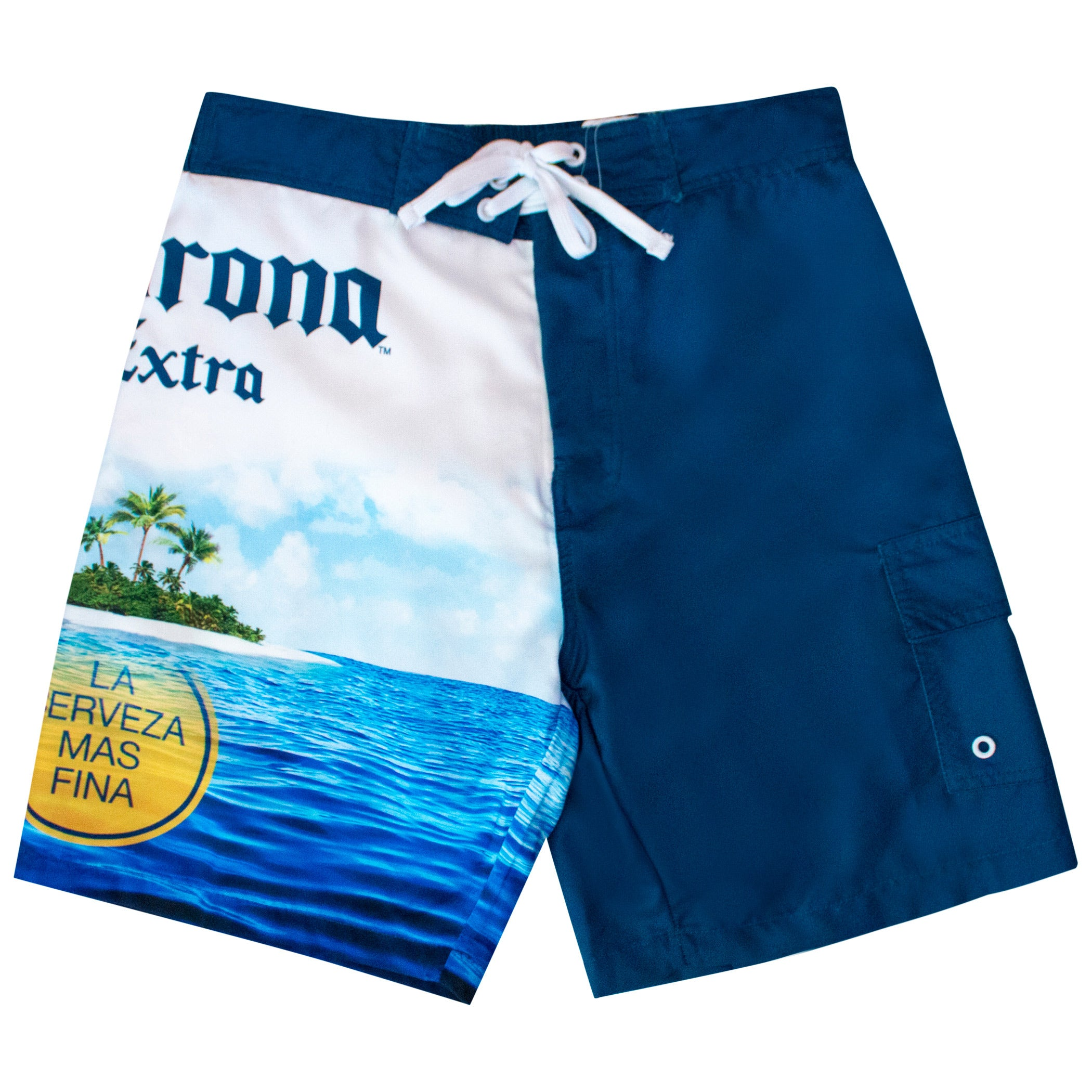 49945ebe57740 Corona Extra Beer Mens Island Scene Swim Board Shorts – Shop Munki