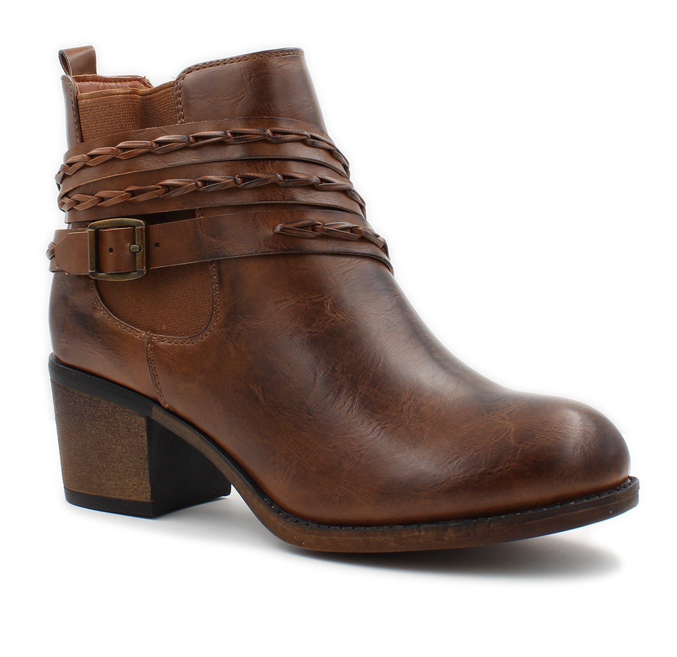 Corkys Womens Wrap Leather Ankle Booties