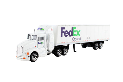 Daron FedEx Ground Die Cast Tractor with Trailer Collectible Model Truck
