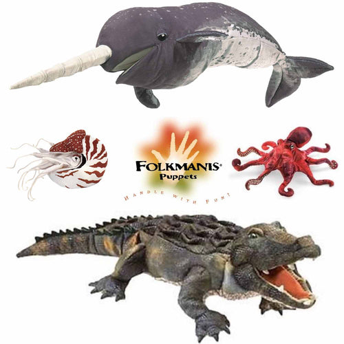 Folkmanis High Quality Water Creature Animal Puppets