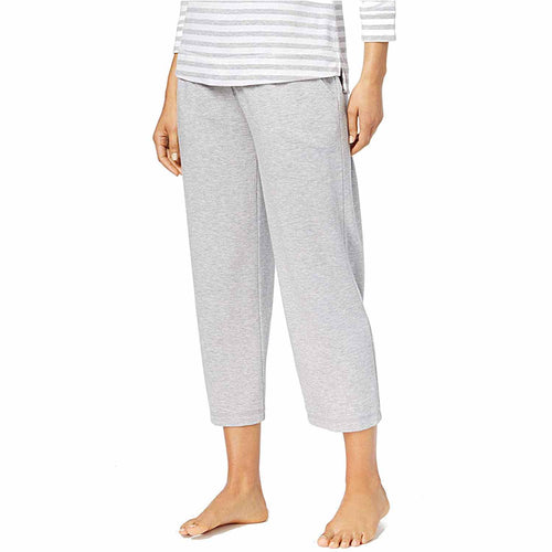 Charter Club Womens Knit Cropped Pajama Pants (Dove Grey Heather, X-Small)