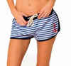 Ingear Nautical Terry Stripe Anchor Swim Cover-Up Shorts