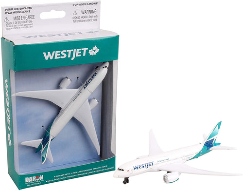 Daron Westjet Collectible Die Cast Metal Single Plane