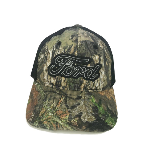 Outdoor Cap Mens Ford Script Logo Ball Cap (Camo / Black, One Size)
