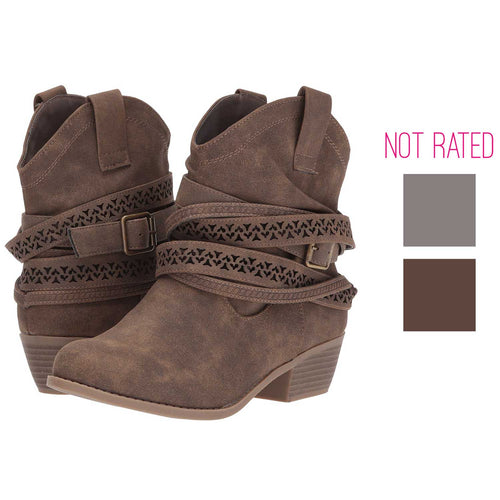 Not Rated Womens Sunami Buckle Mid Calf Boots