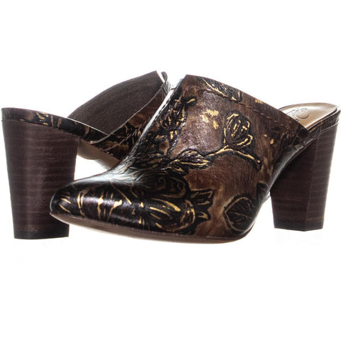 Patricia Nash Womens Ruffina Printed Leather Mules Shoes