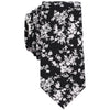 Bar III Mens Jasmine Floral Skinny Neck Tie (Black, One Size)