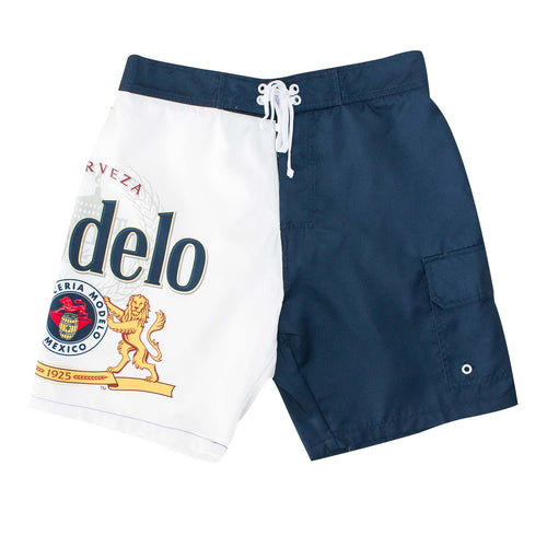 e7e601002a Modelo Especial Bottle Label Mens Swim Board Shorts