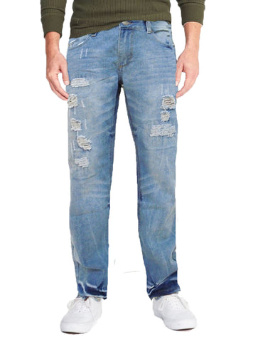 Outback Rider Mens Distressed Straight Leg Jeans