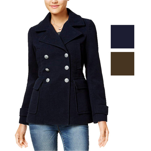 Anne Klein Ladies' Quilted Snap-Front Coat (Night Sky, X-Small)