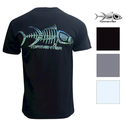 Tormenter Mens Short Sleeve Crew Neck Logo Tee Shirt