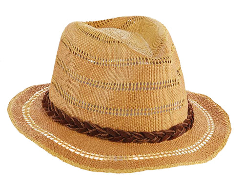 Scala Pronto Womens Vented Crown Bangkok Toyo Safari Hat (Natural, One Size)