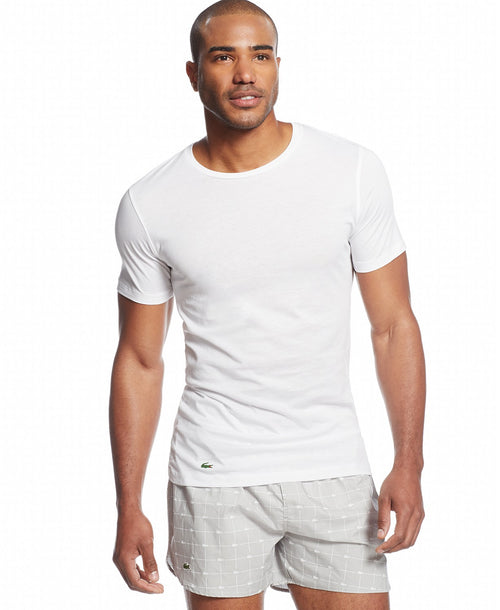 Lacoste Men's 3-Pack Essentials Cotton Classic Fit Crew-Neck T-Shirt