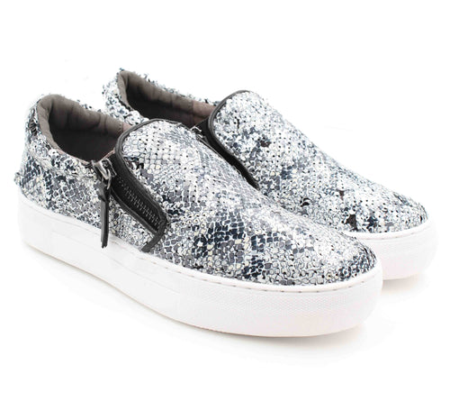 Not Rated Womens Tim Reversible Sequins Zipper Slide On Sneakers