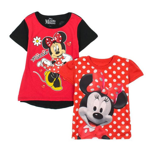 Girls Character 2 Pack Graphic T-Shirt Set- Frozen, Minnie Mouse, My Little Pony