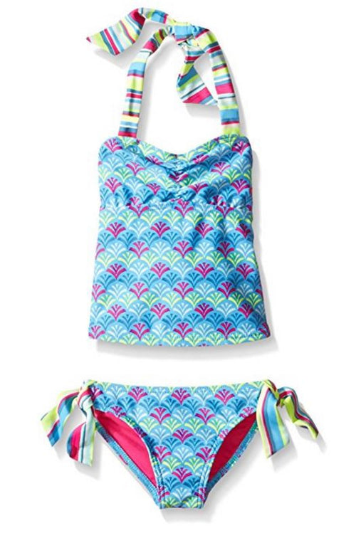 Roxy Girls 2 Piece Flounce Top Bikini or Tankini Swimsuit Set