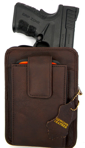 Roma Leathers Large Belt Pistol Holster Pack
