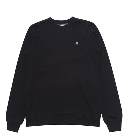 Diamond Supply Co Men's Pavilion Terry Crew Neck Sweatshirt (Black, Large)