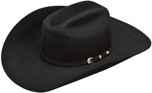 Ariat Mens Wool Double SS Brim & Crown 3 Piece Buckle Band Western Hat