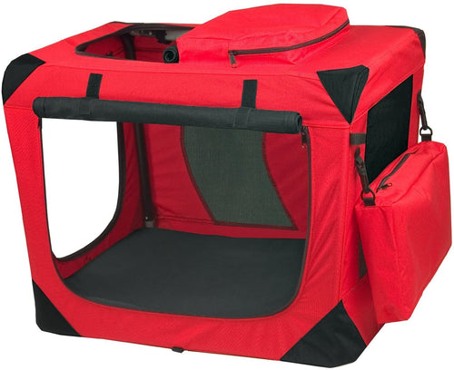 Pet Gear Generation II Portable Soft Dog Crate (Red Poppy)