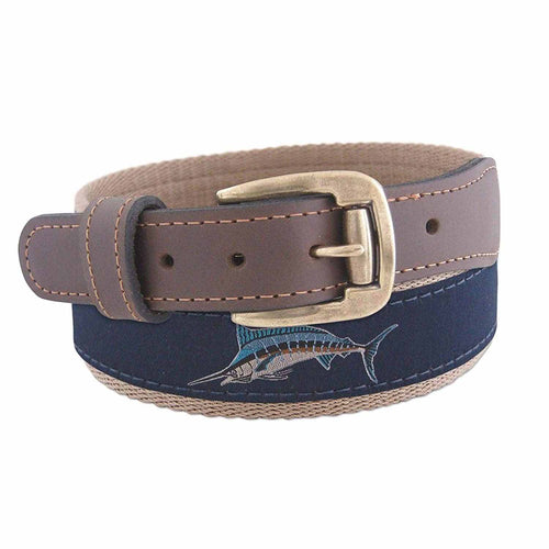ZEP PRO Mens Action Marlin Roller Buckle Ribbon Belt