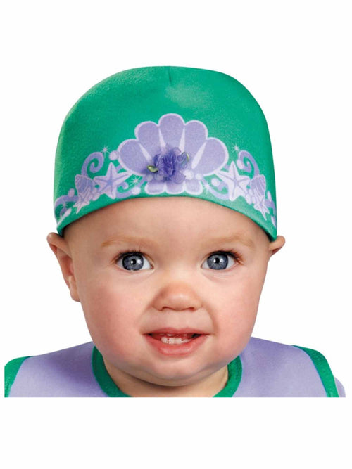 Disguise Baby Girl's Disney The Little Mermaid Ariel Bib and Hat Costume