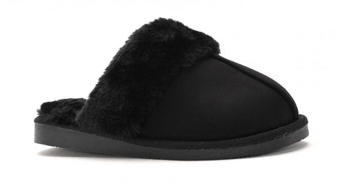 Corkys Womens Snooze Plush Fabric Faux Fur Slipper