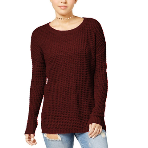 Ultra Flirt Juniors Waffle-Knit Pullover Sweater