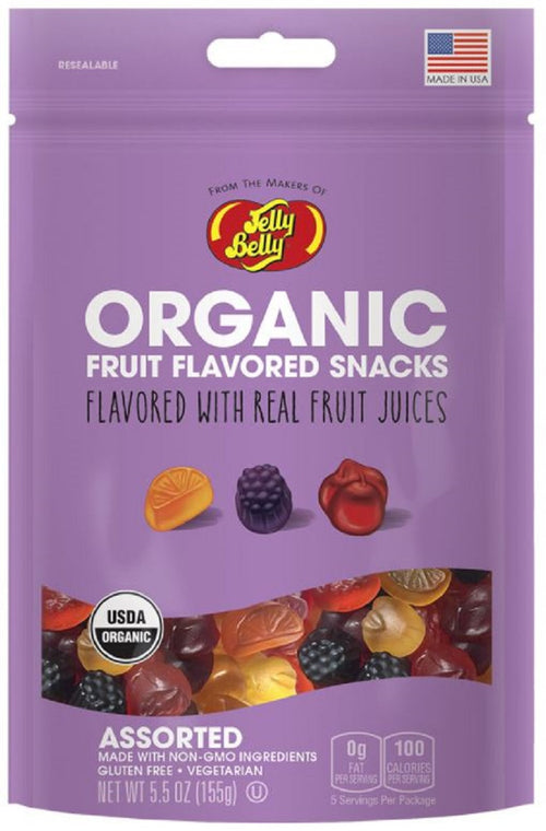 Jelly Belly Organic Fruit Snacks Assorted 5.5oz Bags
