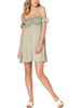 Raviya Womens Ruffled Off-The-Shoulder Cover-Up Dress